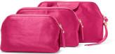 Diane von Furstenberg Set Of Three Satin Pouches - Pink
