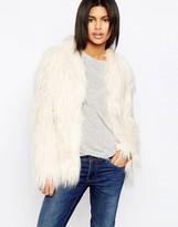 Pepe Jeans Osier Shaggy Faux Fur Coat