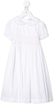 Siola embroidered Peter Pan collar dress