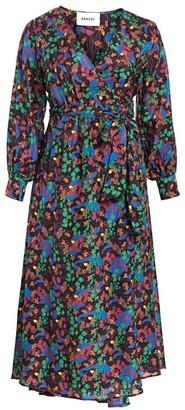 Baacal, Plus Size Floral Cotton Maxi Wrap Dress