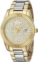 Oniss Paris Women's ON6020N-LG Galaxy Collection Analog Display Swiss Quartz Gold Watch