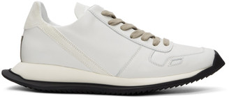 Rick Owens White Leather Runner Sneakers