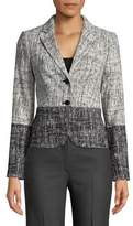 Calvin Klein Petite Tweed-Like Blazer
