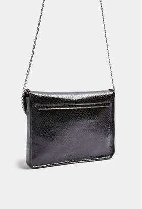 Topshop Chain Clutch Bag - Black