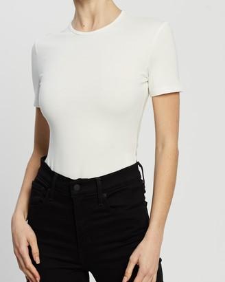 Dazie - Women's White Basic T-Shirts - Unwind T-Shirt Bodysuit - Size 6 at The Iconic