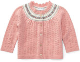 Ralph Lauren Girl Fair Isle Pointelle Cardigan