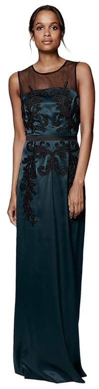 Phase Eight Pine And Black Gallia Embellished Full Length Dress