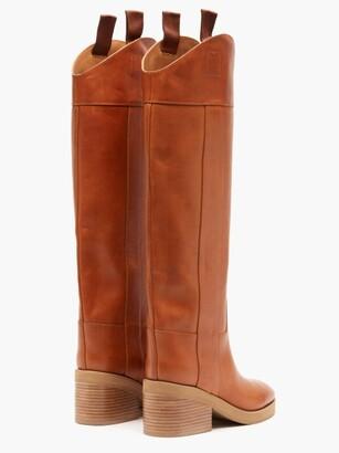 Jimmy Choo Tonya Leather Knee-high Boots - Tan