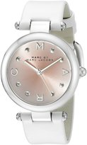 Marc by Marc Jacobs Marc Jacobs MJ1407 Dotty Silver White Leather Strap Women's Watch