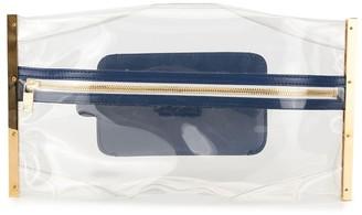 Sacai Transparent Zipped Clutch