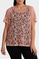 Lace Capped Sleeve Top