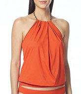 CoCo Reef Solid Bra-Sized High Neck Draped Tankini