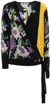 Diane von Furstenberg Printed Silk Cross Over Shirt