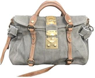 Miu Miu Bow bag Beige Linen Handbags