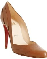 brown leather 'Insectika' pumps