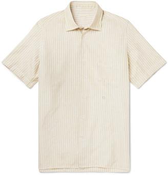 Massimo Alba Striped Cotton And Linen-Blend Shirt