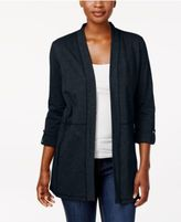 Karen Scott 3/4-Sleeve Open Front Cardigan, Only at Macy's