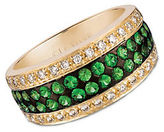 LeVian Tsavorite, Vanilla Diamond and 14K Yellow Gold Ring