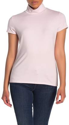 Catherine Malandrino Short Sleeve Mock Neck T-Shirt (Petite)