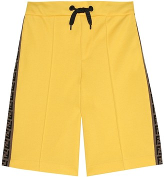 Fendi Kids Cotton-blend shorts