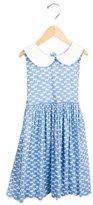 Rachel Riley Girls' Cat Print A-Line Dress