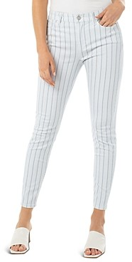 Liverpool Los Angeles Abby Striped Skinny Jeans