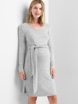 Gap Maternity softspun knit tie-waist dress