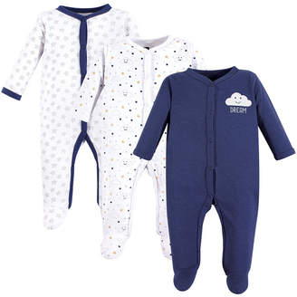 Hudson Baby Baby Vision 0-9 Months Unisex Baby Coveralls/Union Suits and Sleep and Play, 3-Pack