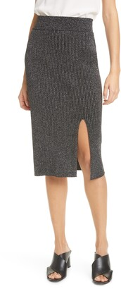 Club Monaco Metallic Rib Sweater Skirt