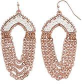 JLO by Jennifer Lopez Two Tone Openwork Chain Swag Earrings