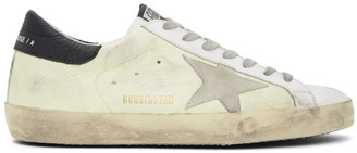 Golden Goose Yellow and White Superstar Sneakers