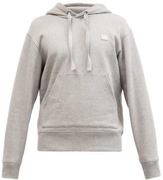 Acne Studios Ferris Face Cotton Hooded Sweatshirt - Grey