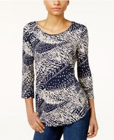 JM Collection Printed Top, Only at Macy's