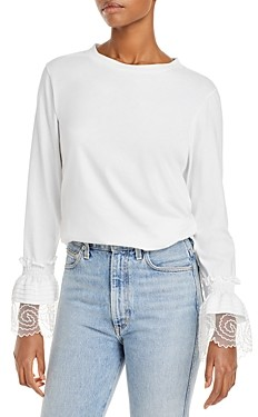 See by Chloe Lace Embellished Cotton Top