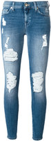 7 For All Mankind distressed skinny jeans - women - Cotton/Polyester/Spandex/Elastane - 25