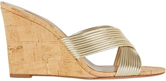 Aquazzura Perugia Cork Wedge Sandals