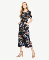 Ann Taylor Petite Wild Flower Culotte Jumpsuit