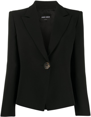 Giorgio Armani Single Buttoned Fitted Blazer