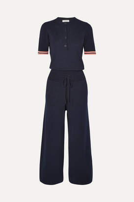 Chinti and Parker Day Dreamer Cotton Jumpsuit - Navy