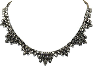 Stephen Webster Silver & Rhodium Mother-Of-Pearl Necklace