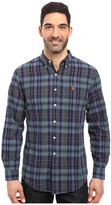 U.S. Polo Assn. Long Sleeve Classic Fit Plaid Slub Oxford Cloth Sport Shirt