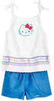 Hello Kitty 2-Pc. Cotton Tank Top & Shorts Set, Toddler & Little Girls (2T-6X)
