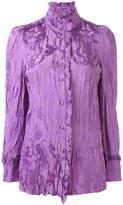 Roberto Cavalli 'Runway Ruffled Jacquard' blouse - women - Silk/Viscose - 42