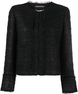 Alberta Ferretti Crocheted Cropped Jacket