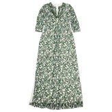 Tory Burch Green Silk Dress