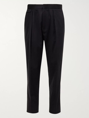 Equipment The Original Tapered Pleated Lyocell and Cotton-Blend Twill Trousers - Men - Blue