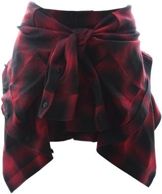 Alexander Wang Red Wool Shorts