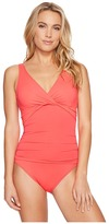Lauren Ralph Lauren Beach Club Solids Twist Over the Shoulder Underwire One-Piece Women's Swimsuits One Piece