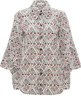 J.W.Anderson floral print square sleeve shirt