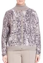 Basler Graphic-Print Cardigan